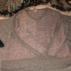 Lavender and Grey Sweater